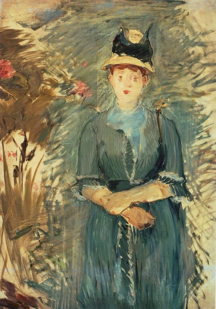 Edouard Manet Girl In The Flowers, Canvas, Édouard Manet, kanvas tablo, canvas print sales