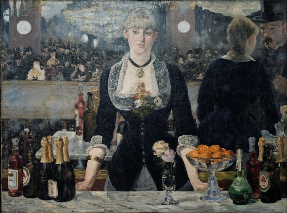 Edouardo Manet A Bar At Les Folies Bergere, Canvas, Édouard Manet, kanvas tablo, canvas print sales