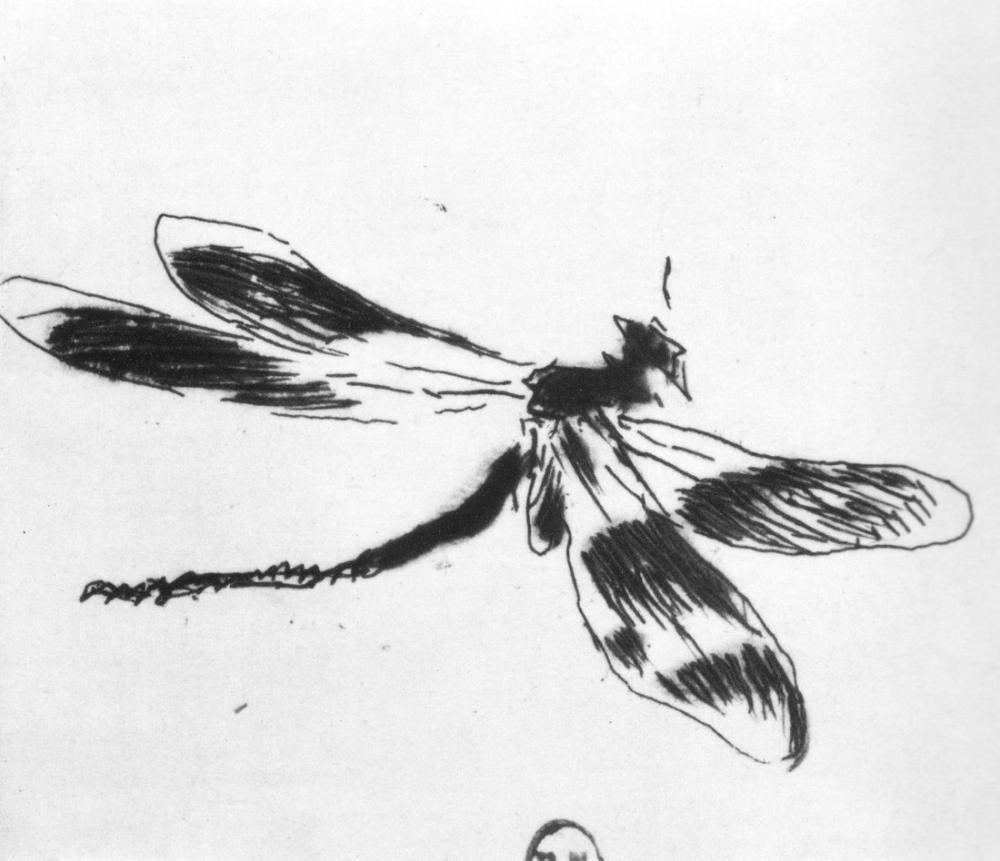 Edouard Manet Dragonfly, Canvas, Édouard Manet, kanvas tablo, canvas print sales