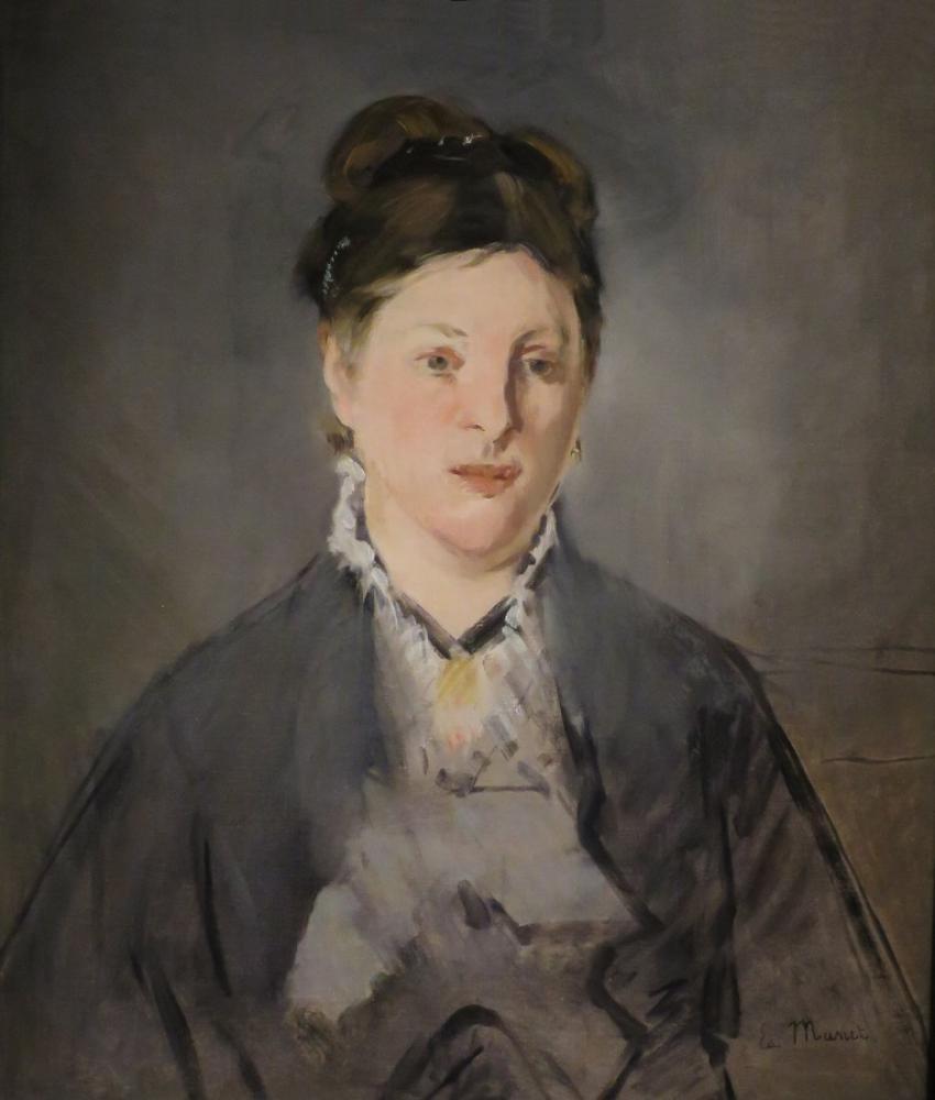 Edouard Manet Full Face Portrait Of Wife, Canvas, Édouard Manet, kanvas tablo, canvas print sales