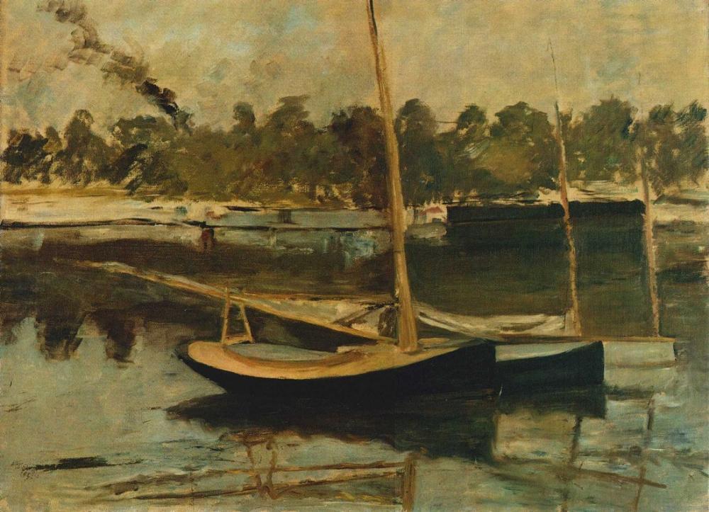 Edouard Manet Yelkenli Tekneler Argenteuil, Kanvas Tablo, Édouard Manet, kanvas tablo, canvas print sales