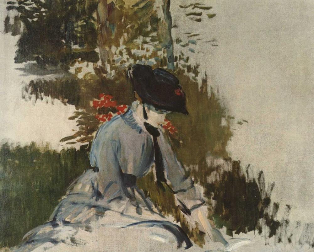 Edouard Manet Bellevue Bahçesinde Genç Kız, Kanvas Tablo, Édouard Manet, kanvas tablo, canvas print sales