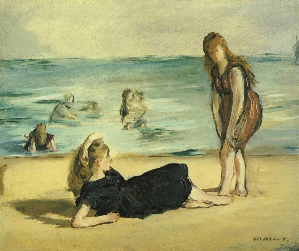 Edouard Manet Boulogne Sahilde, Kanvas Tablo, Édouard Manet, kanvas tablo, canvas print sales