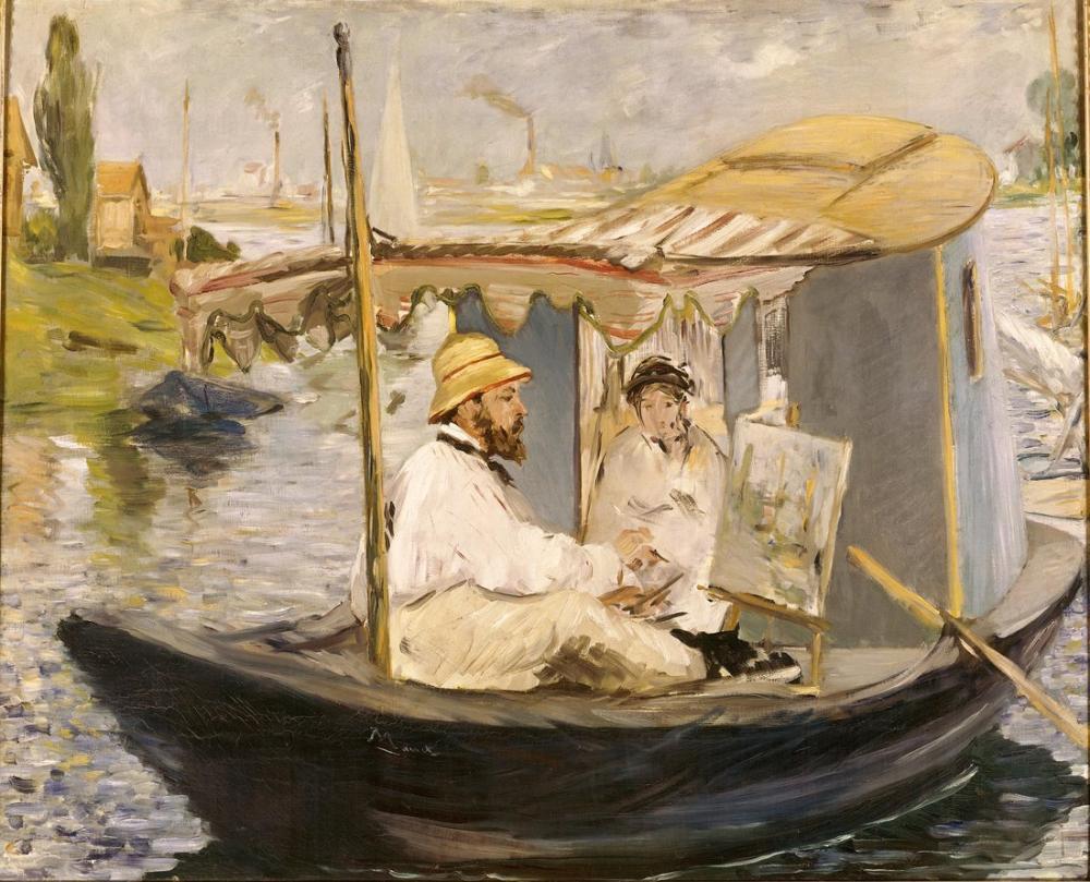 Edouardo Manet The Boat, Canvas, Édouard Manet, kanvas tablo, canvas print sales