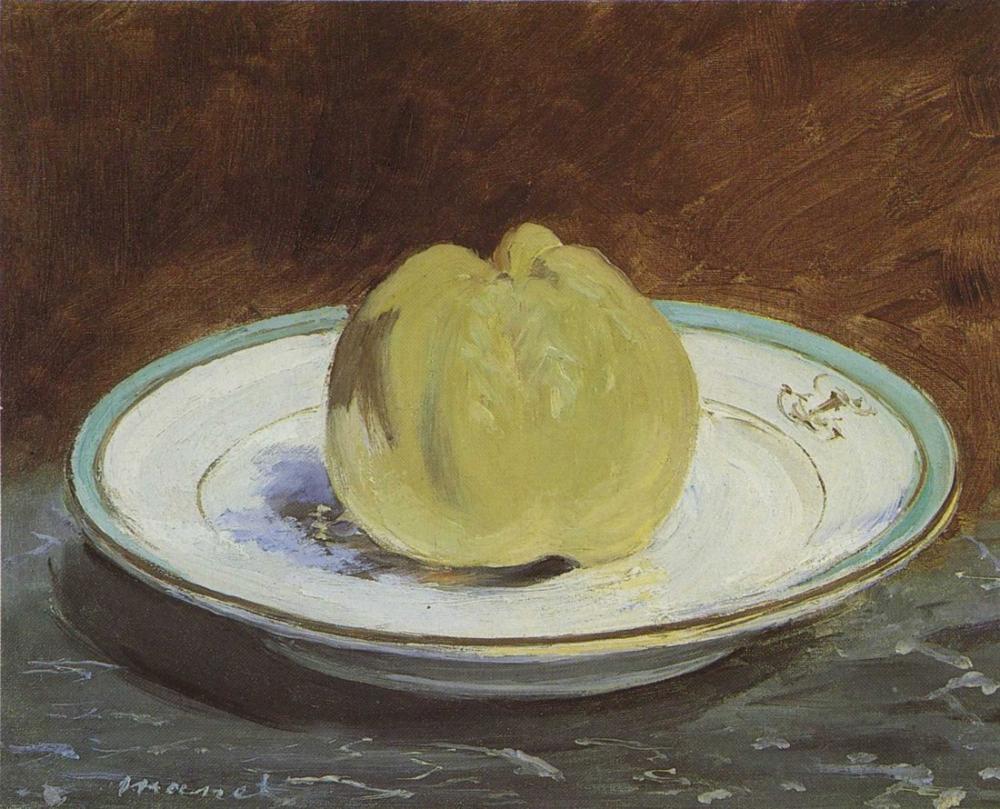 Edouard Manet Bir Tabak Üzerinde Ayva, Kanvas Tablo, Édouard Manet, kanvas tablo, canvas print sales