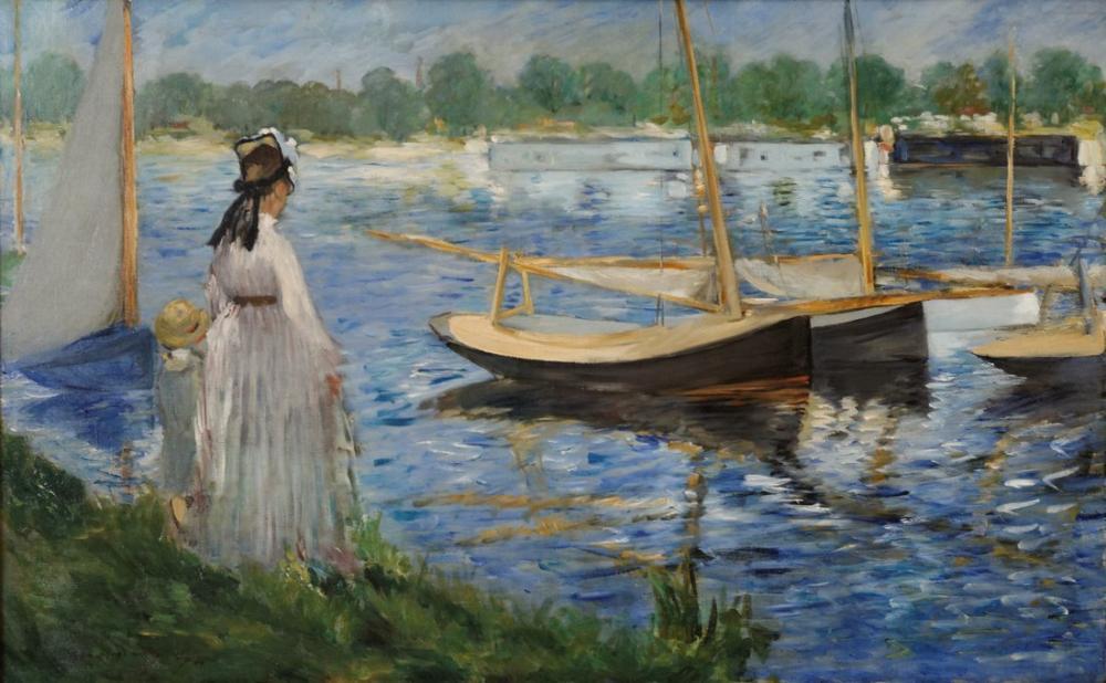 Edouardo Manet Banks Of The Seine At Argenteuil, Canvas, Édouard Manet, kanvas tablo, canvas print sales
