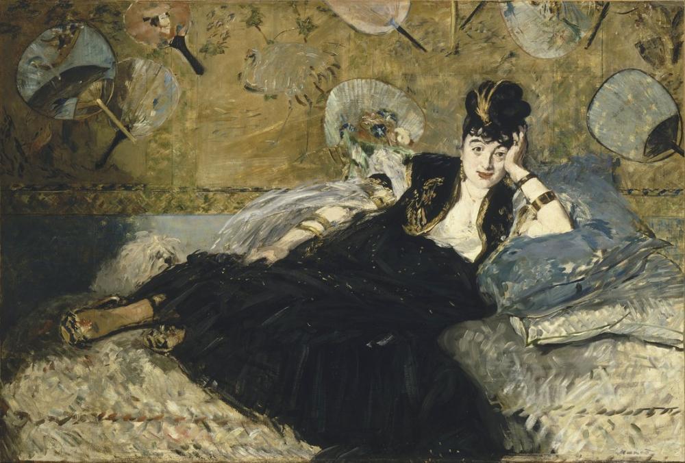 Edouardo Manet Woman With Fans, Canvas, Édouard Manet, kanvas tablo, canvas print sales
