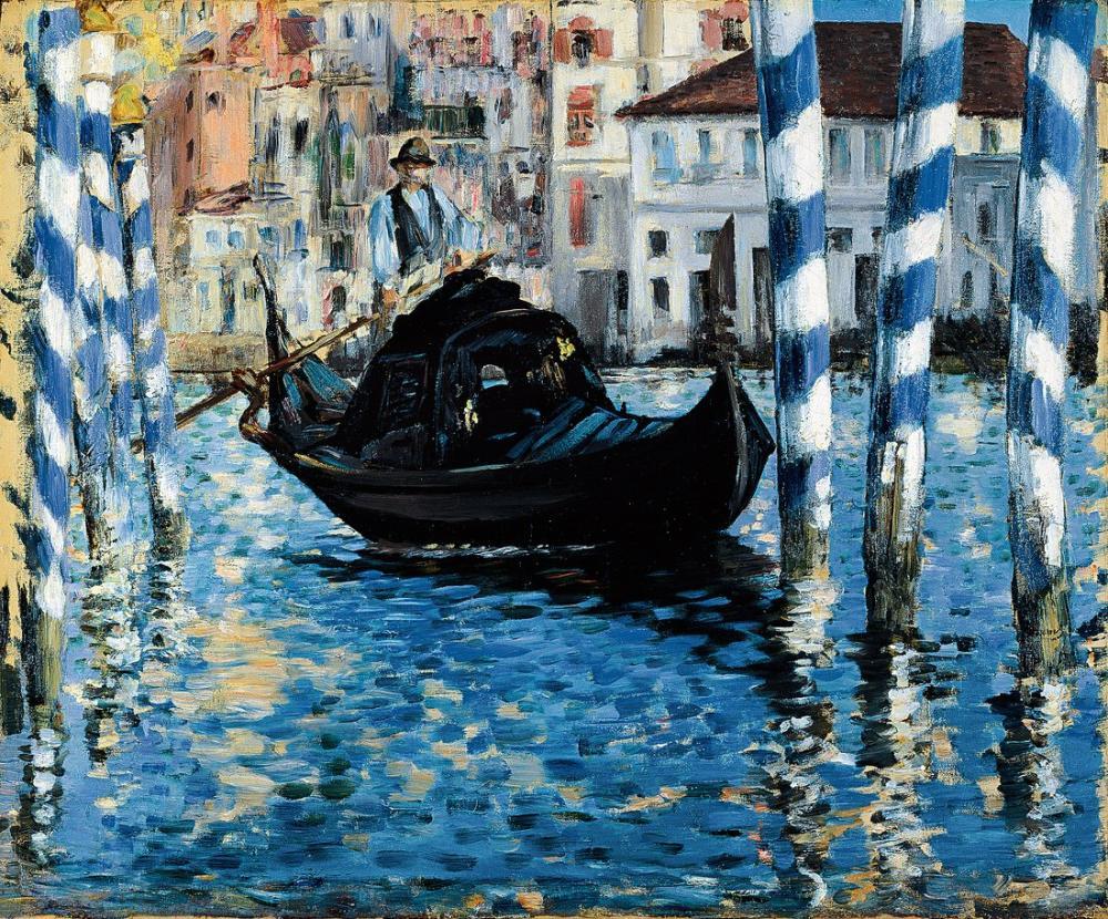 Edouardo Manet The Grand Canal In Venice, Canvas, Édouard Manet, kanvas tablo, canvas print sales