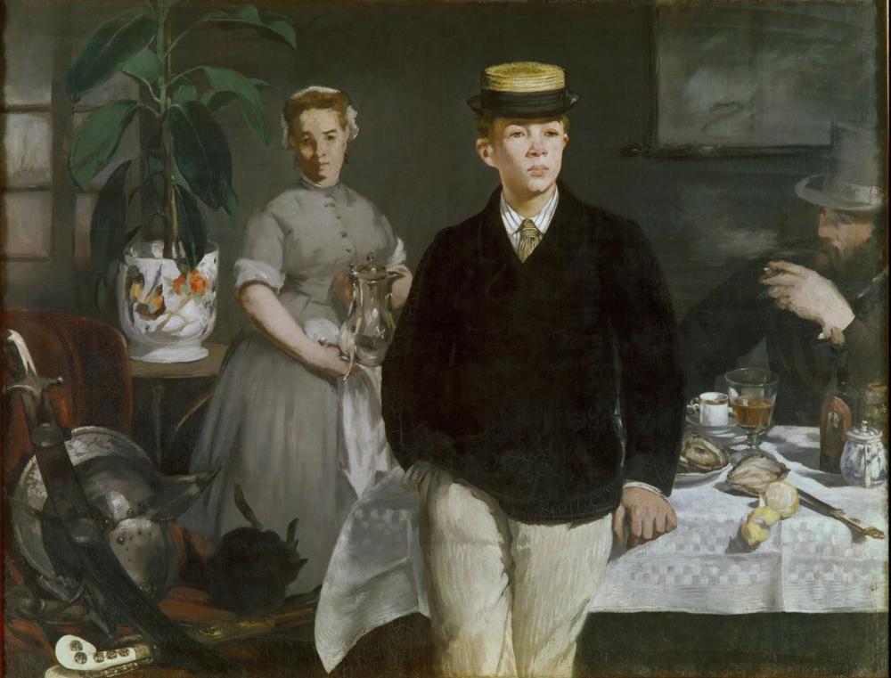 Edouardo Manet Luncheon In The Studio, Canvas, Édouard Manet, kanvas tablo, canvas print sales