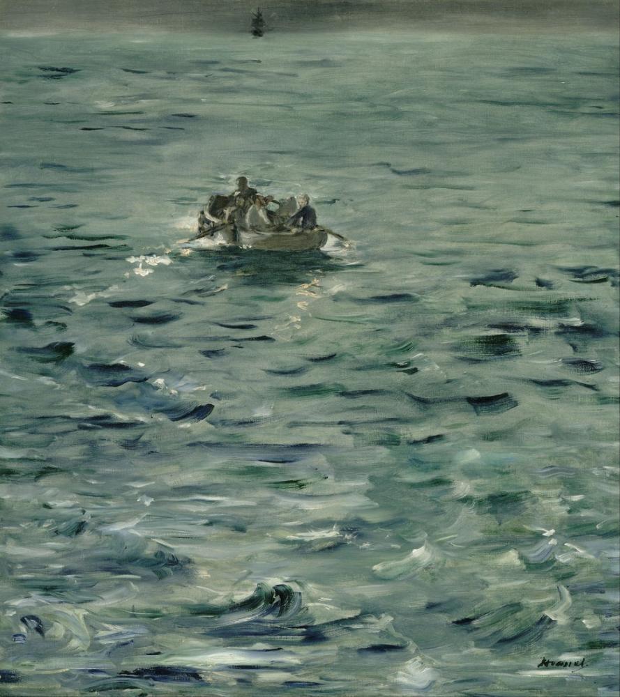 Edouardo Manet Rocheforts Escape, Canvas, Édouard Manet, kanvas tablo, canvas print sales
