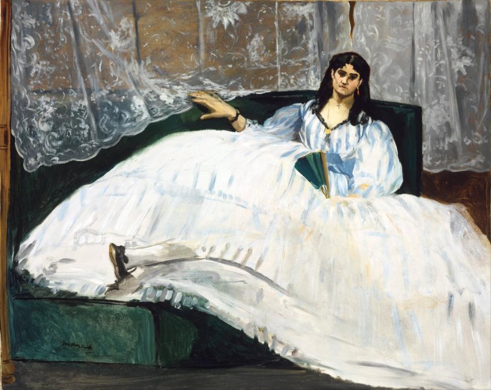 Edouardo Manet Woman With A Fan, Canvas, Édouard Manet, kanvas tablo, canvas print sales