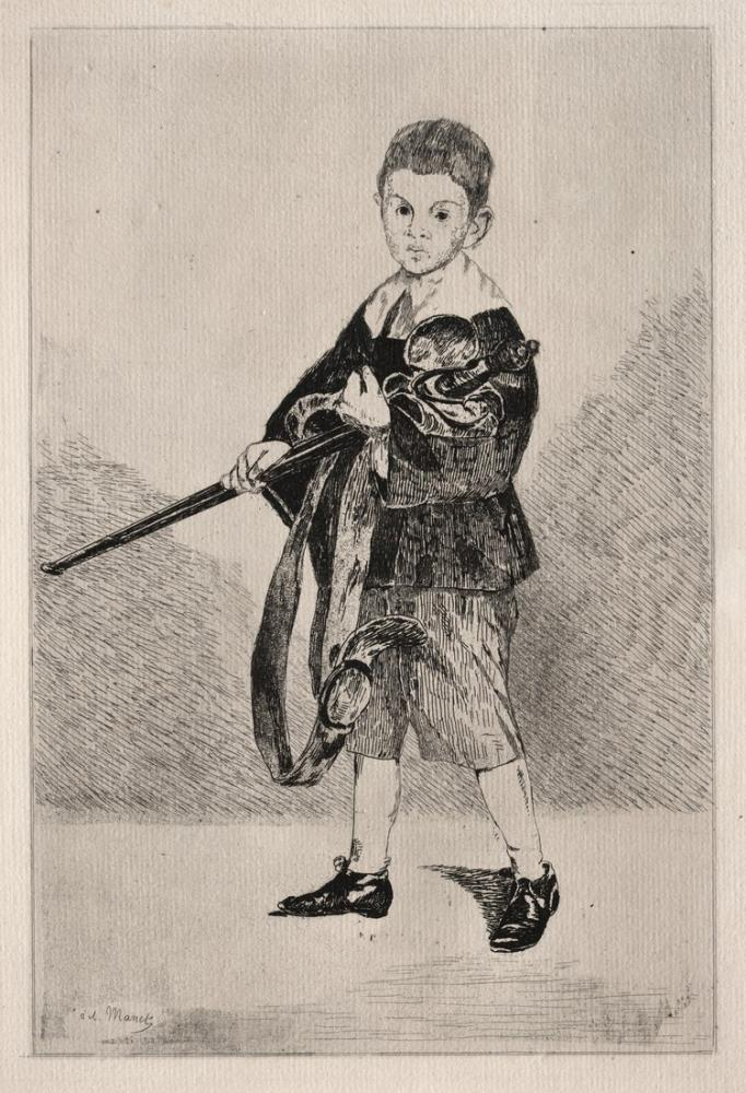 Edouardo Manet Child With Sword Turned To The Left, Canvas, Édouard Manet, kanvas tablo, canvas print sales