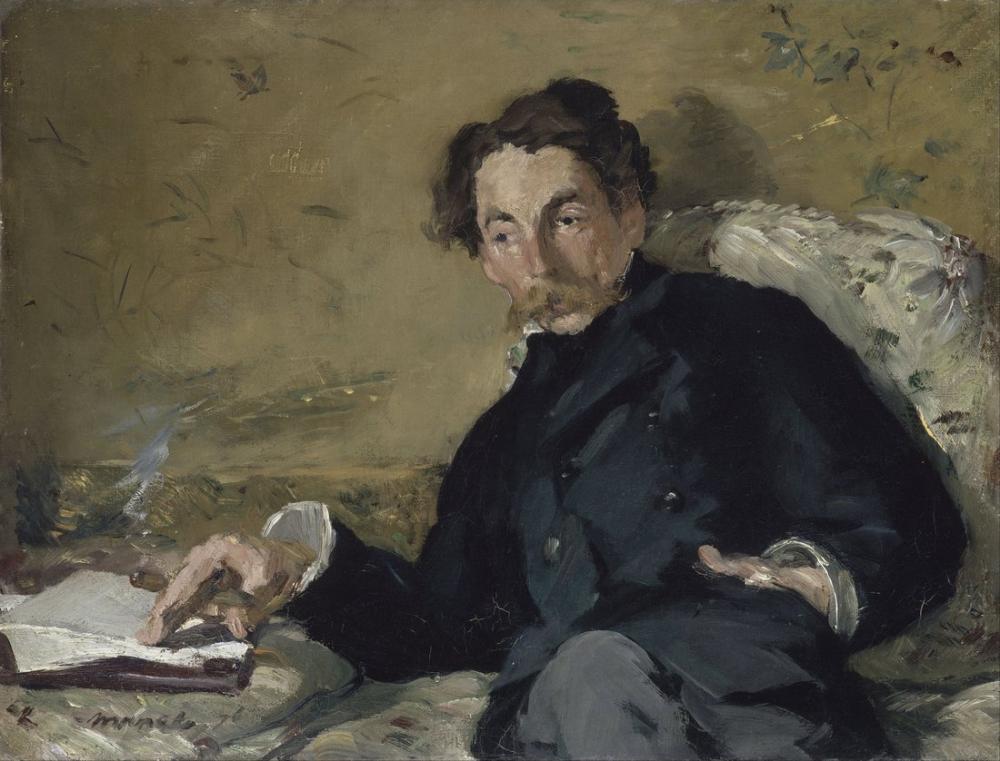 Edouardo Manet Stephane Mallarme, Canvas, Édouard Manet, kanvas tablo, canvas print sales