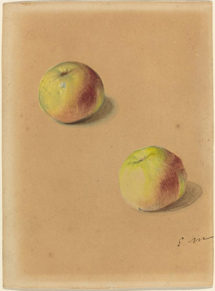 Edouardo Manet Two Apples Drawing, Canvas, Édouard Manet, kanvas tablo, canvas print sales