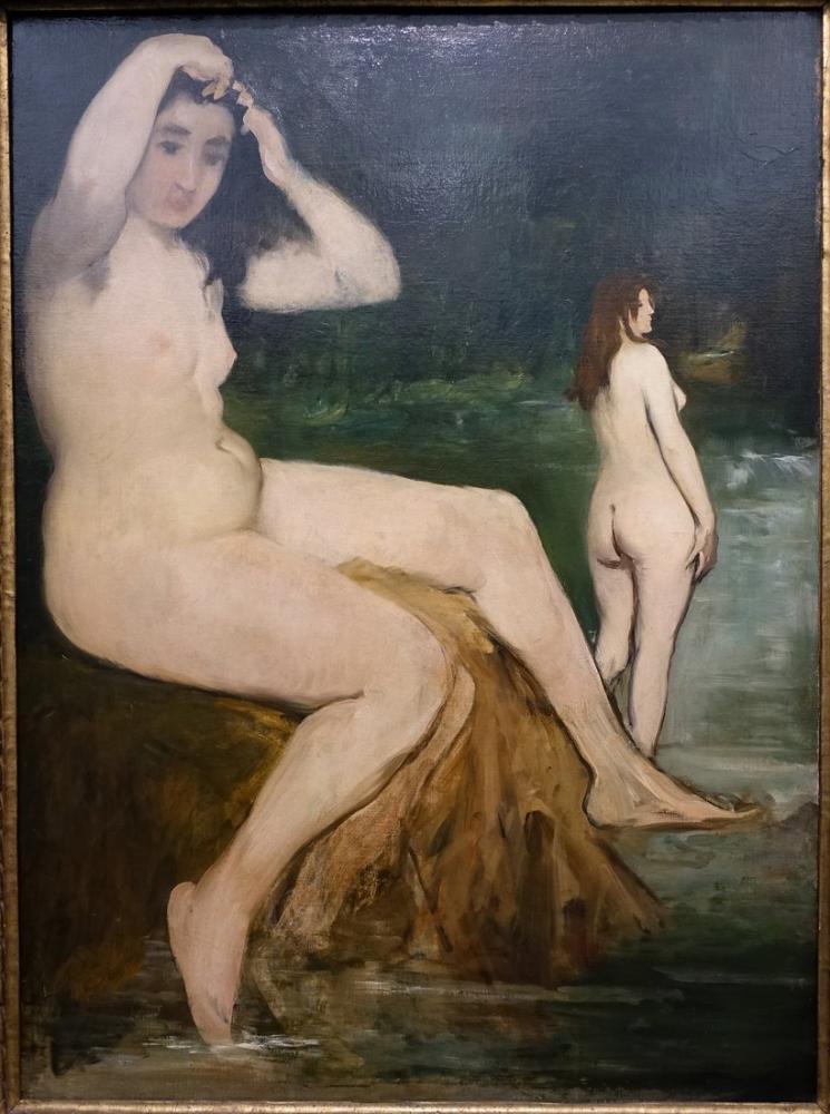Edouardo Manet Bathers On The Seine Academy, Canvas, Édouard Manet, kanvas tablo, canvas print sales