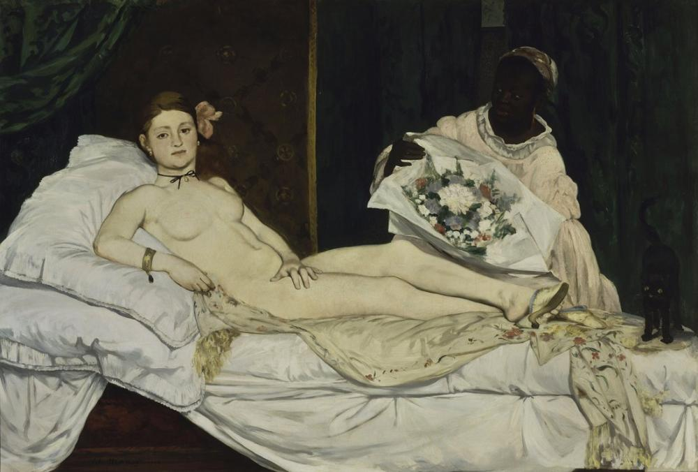 Edouardo Manet Olympia, Canvas, Édouard Manet, kanvas tablo, canvas print sales