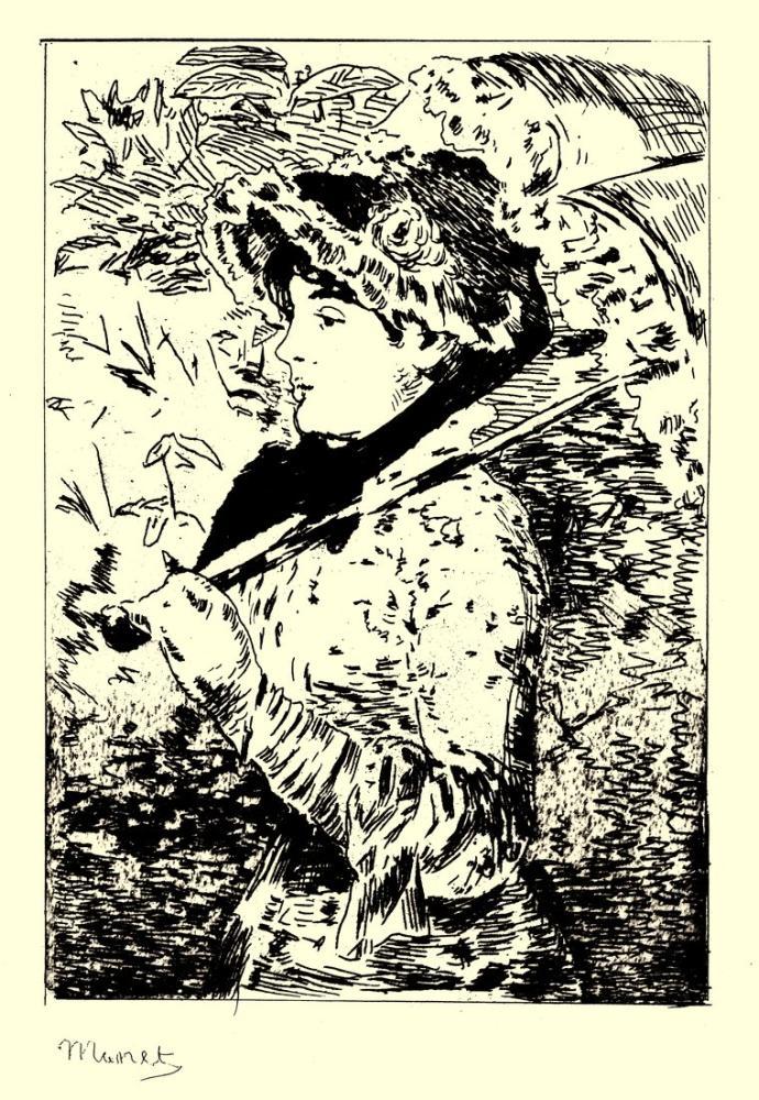 Edouardo Manet Jeanne Spring II, Canvas, Édouard Manet, kanvas tablo, canvas print sales