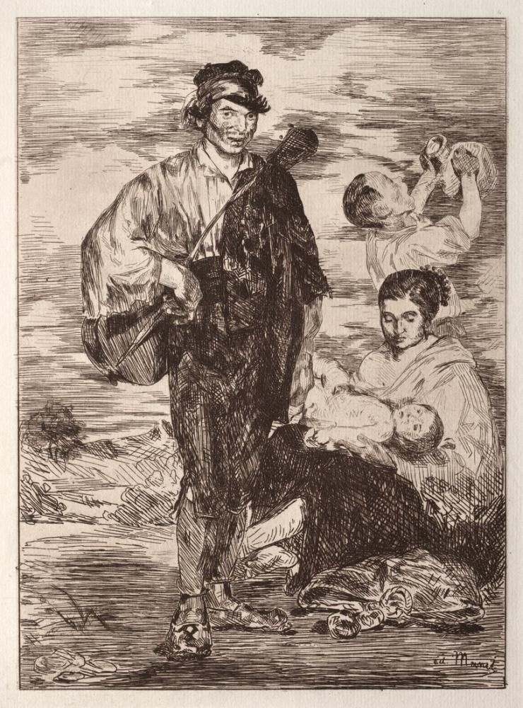 Edouardo Manet Les Gitanos, Canvas, Édouard Manet, kanvas tablo, canvas print sales