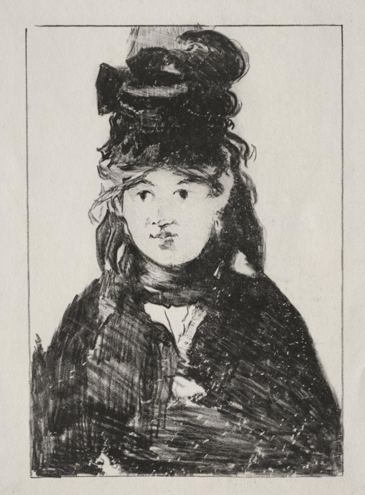 Edouardo Manet Portrait Of Berthe Morisot, Canvas, Édouard Manet, kanvas tablo, canvas print sales