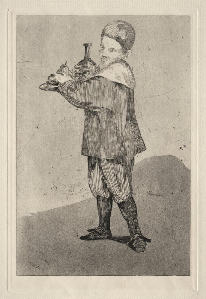 Edouardo Manet Child Carrying A Tray, Canvas, Édouard Manet, kanvas tablo, canvas print sales