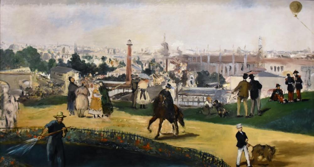 Edouardo Manet View Of The Exposition, Canvas, Édouard Manet, kanvas tablo, canvas print sales