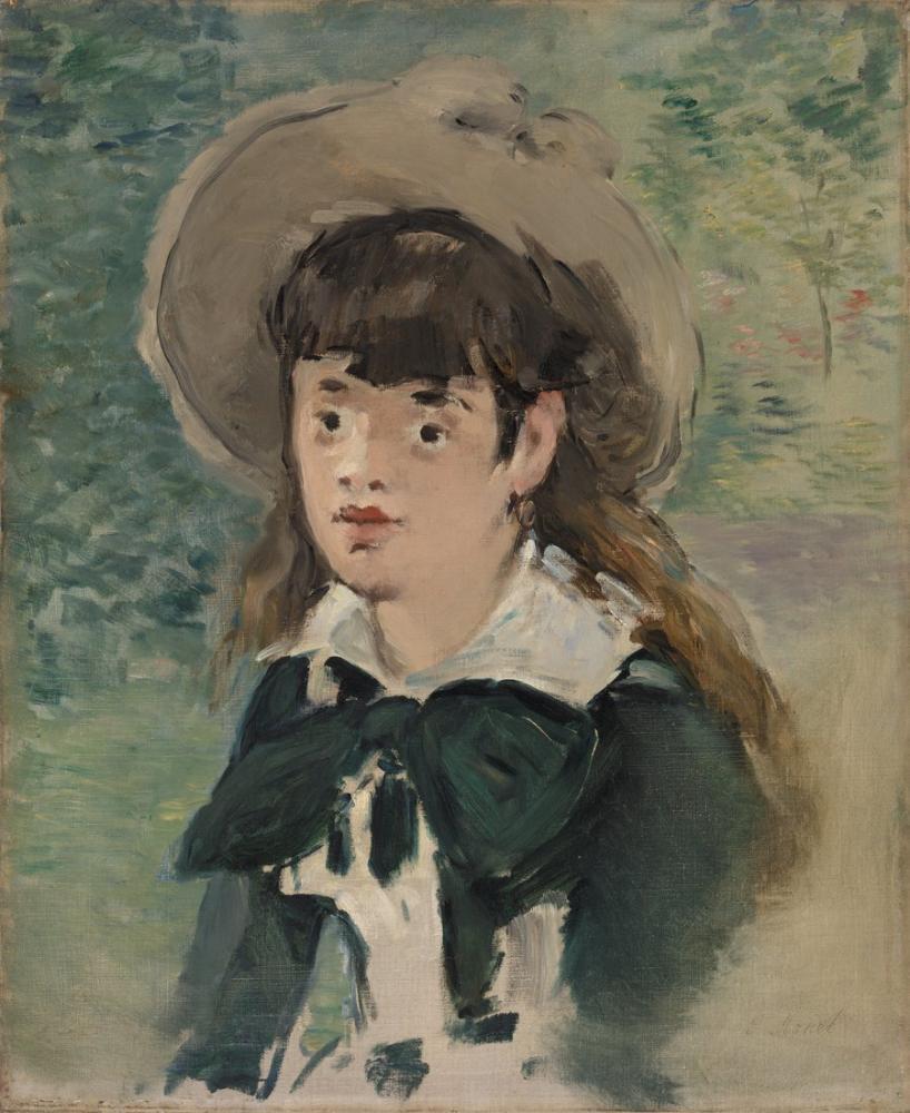 Edouardo Manet Young Girl On A Bench, Canvas, Édouard Manet, kanvas tablo, canvas print sales