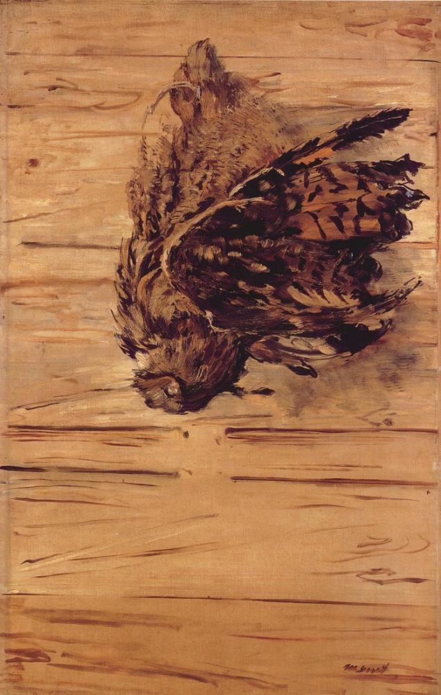 Edouardo Manet Dead Eagle Owl, Canvas, Édouard Manet, kanvas tablo, canvas print sales