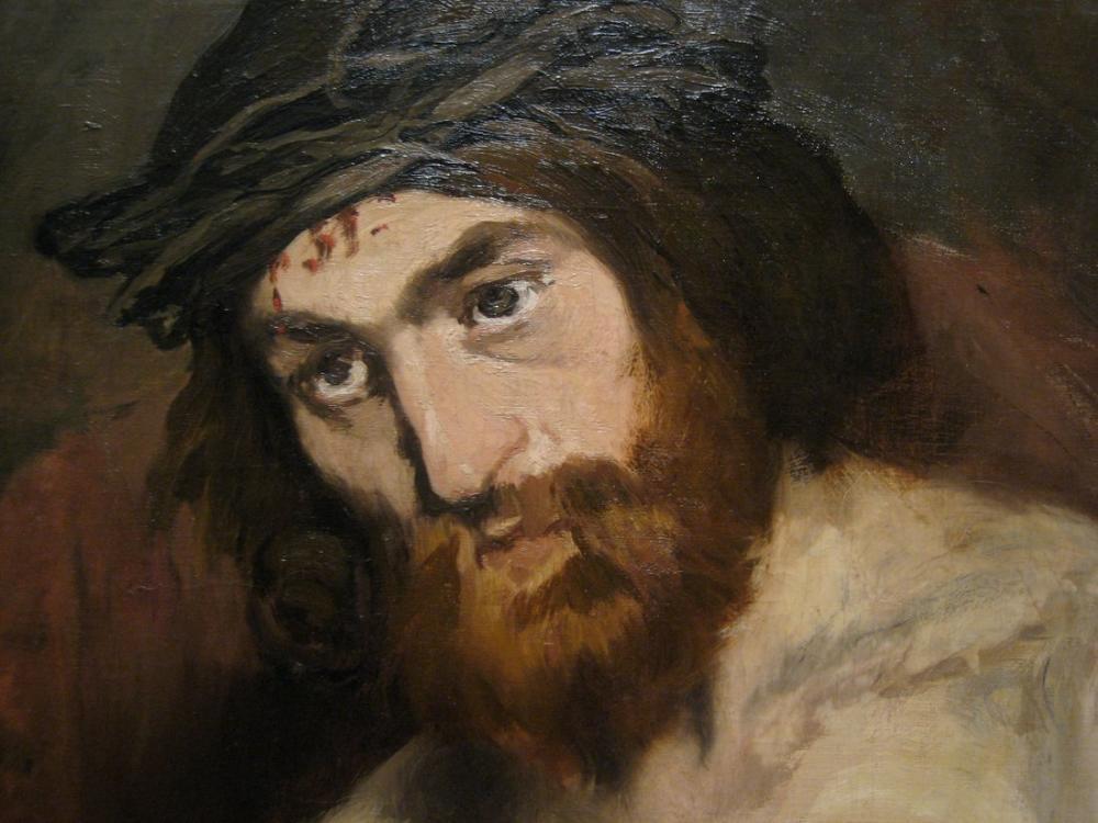 Edouardo Manet Head Of Christ, Canvas, Édouard Manet, kanvas tablo, canvas print sales