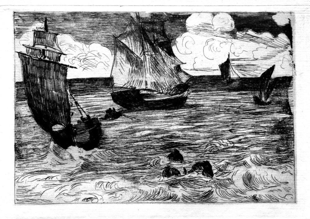 Edouardo Manet Marine II, Canvas, Édouard Manet, kanvas tablo, canvas print sales