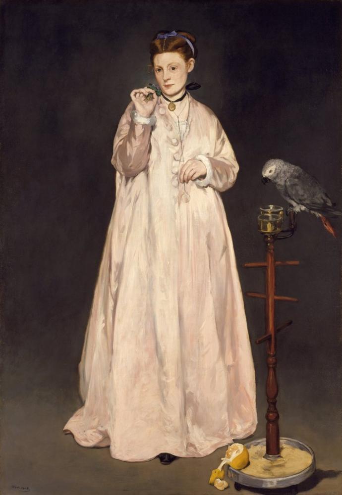 Edouardo Manet Young Lady In 1866, Canvas, Édouard Manet, kanvas tablo, canvas print sales