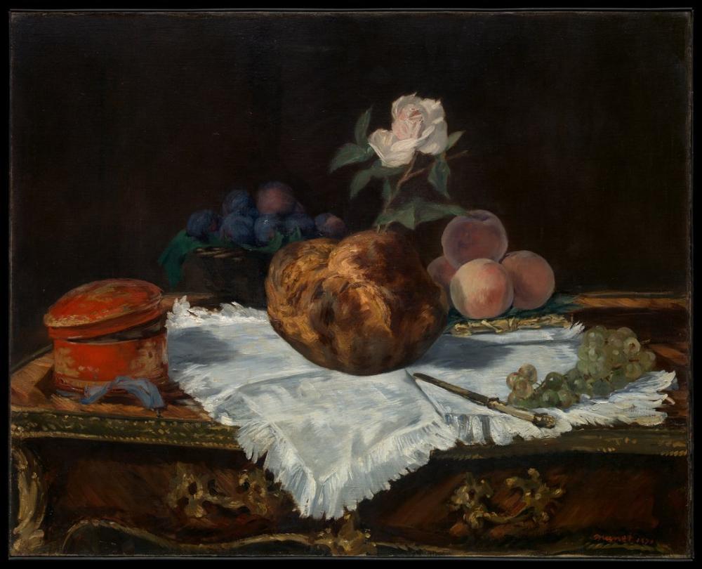 Edouardo Manet The Brioche, Canvas, Édouard Manet, kanvas tablo, canvas print sales