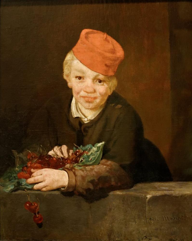 Edouardo Manet Boy with Cherries, Canvas, Édouard Manet, kanvas tablo, canvas print sales