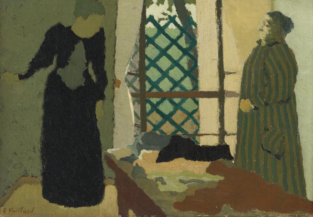 Edouard Vuillard, Green Interior, Figure, Édouard Vuillard, kanvas tablo, canvas print sales