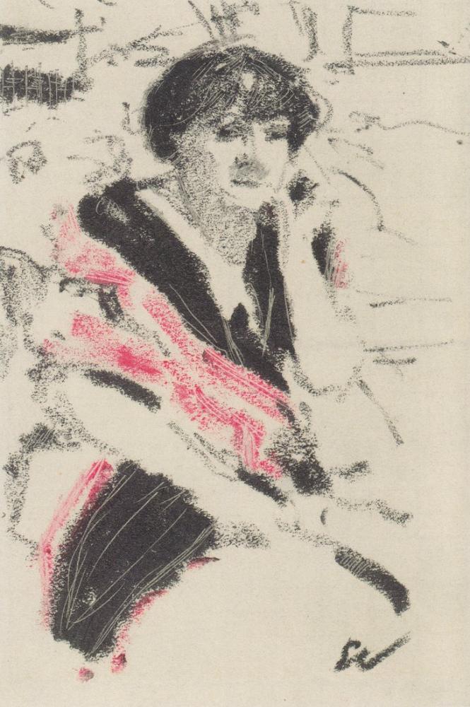Edouard Vuillard, Halbfigur einer sitzenden Frau, Figure, Édouard Vuillard, kanvas tablo, canvas print sales