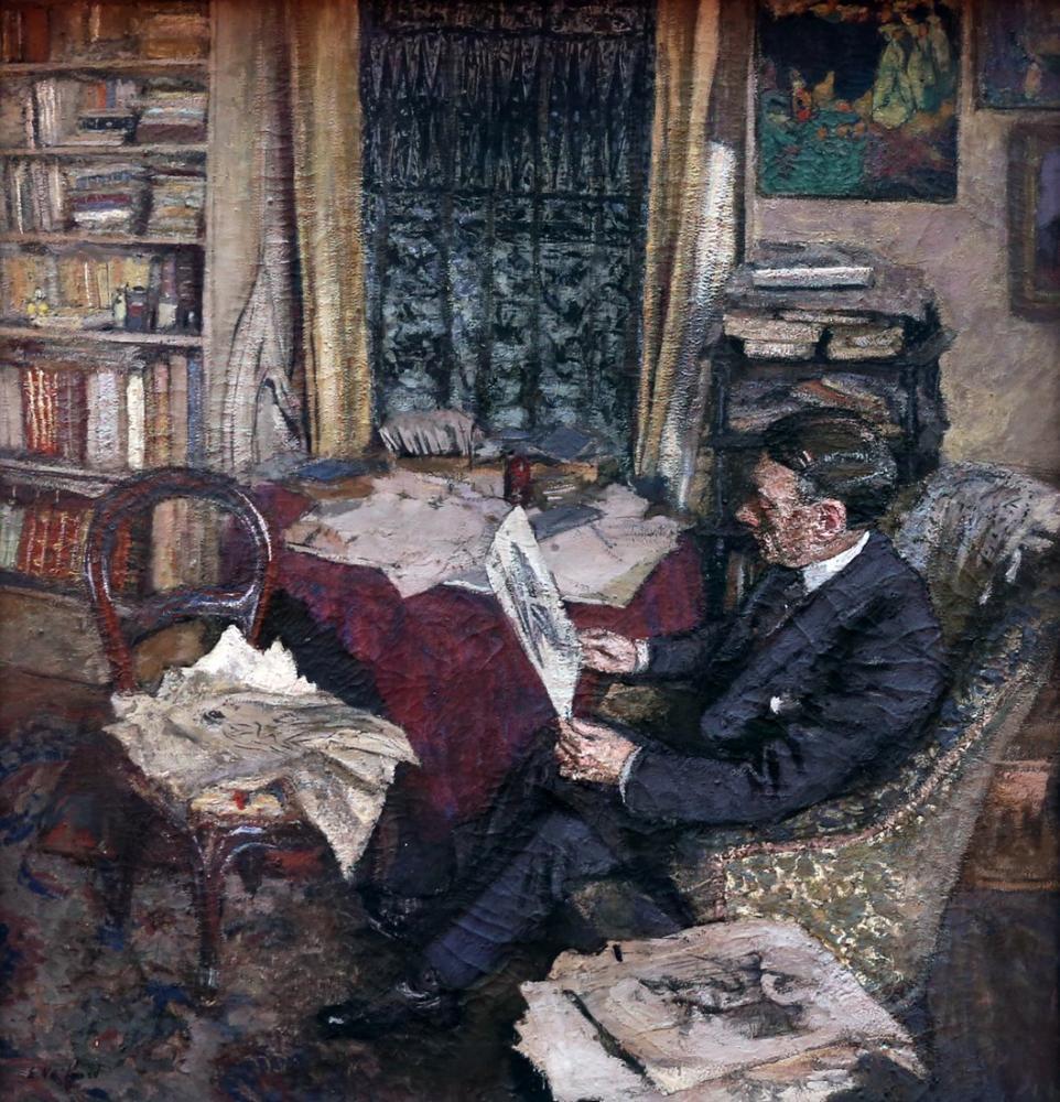 Edouard Vuillard, Henri Xavier Fontaine, Kanvas Tablo, Édouard Vuillard, kanvas tablo, canvas print sales