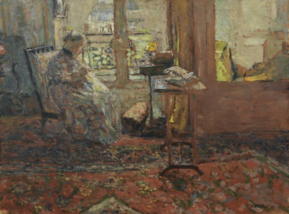 Edouard Vuillard, His Mother, Canvas, Édouard Vuillard, kanvas tablo, canvas print sales