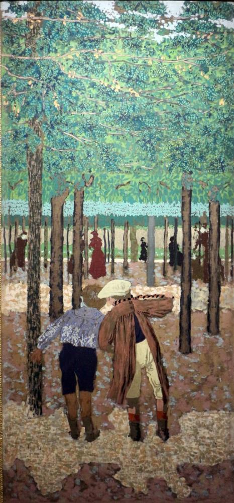 Edouard Vuillard, i due scolari, Figure, Édouard Vuillard, kanvas tablo, canvas print sales