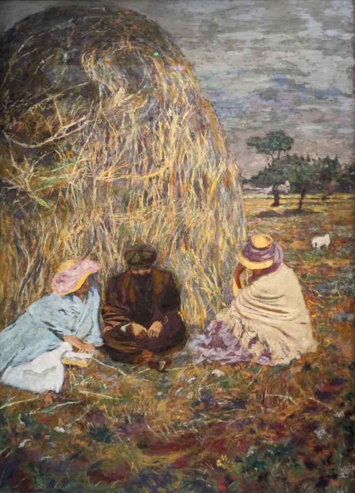 Edouard Vuillard, Üç Biçici ile Demet, Kanvas Tablo, Édouard Vuillard, kanvas tablo, canvas print sales
