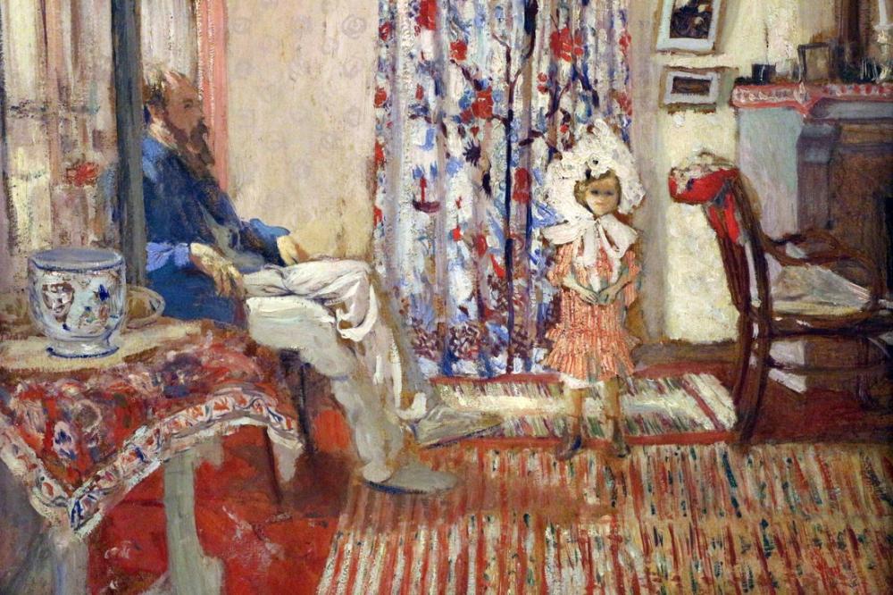Edouard Vuillard, Ressam Ker Xavier Roussel ve Onun Kızı, Kanvas Tablo, Édouard Vuillard, kanvas tablo, canvas print sales