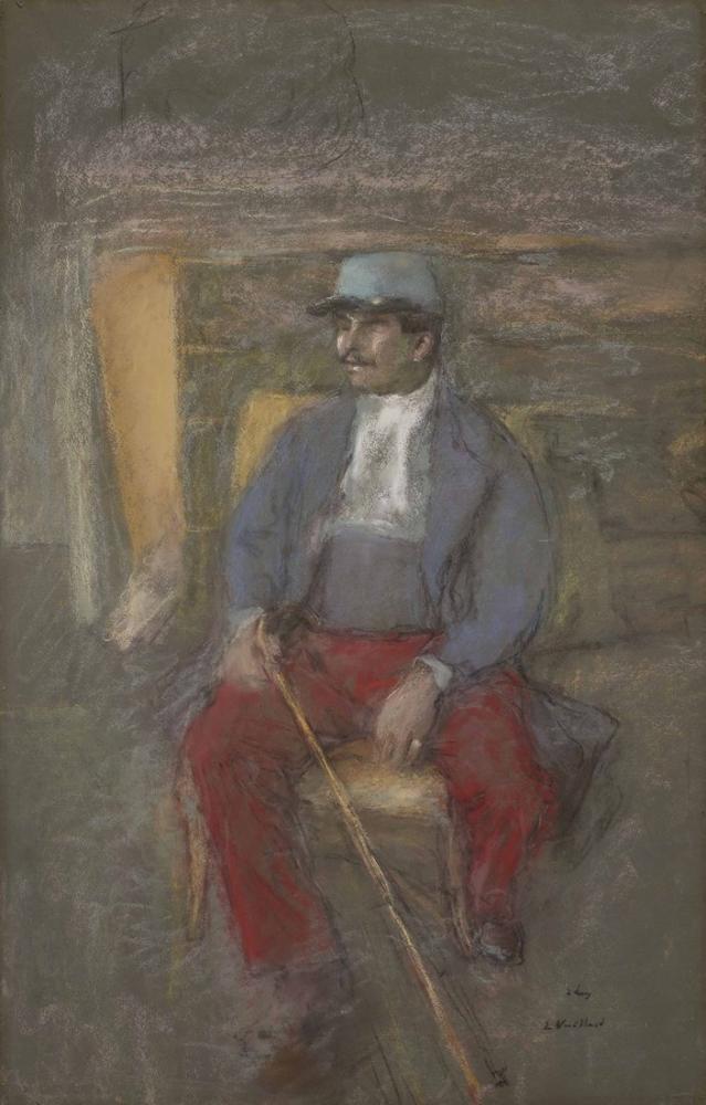 Edouard Vuillard, Bir Lucien Grandjeanı, Kanvas Tablo, Édouard Vuillard, kanvas tablo, canvas print sales