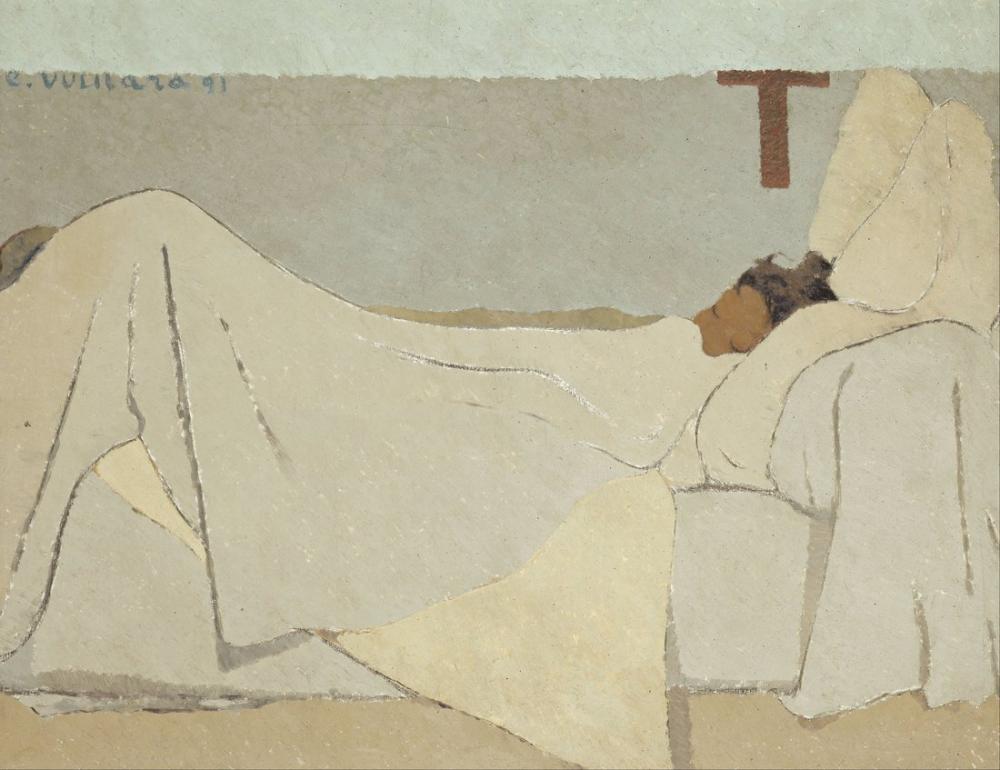 Edouard Vuillard, In Bed, Figure, Édouard Vuillard, kanvas tablo, canvas print sales
