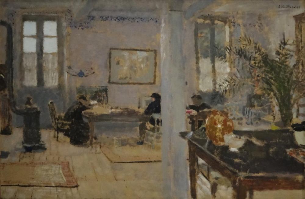 Edouard Vuillard, İçerisi, Kanvas Tablo, Édouard Vuillard, kanvas tablo, canvas print sales