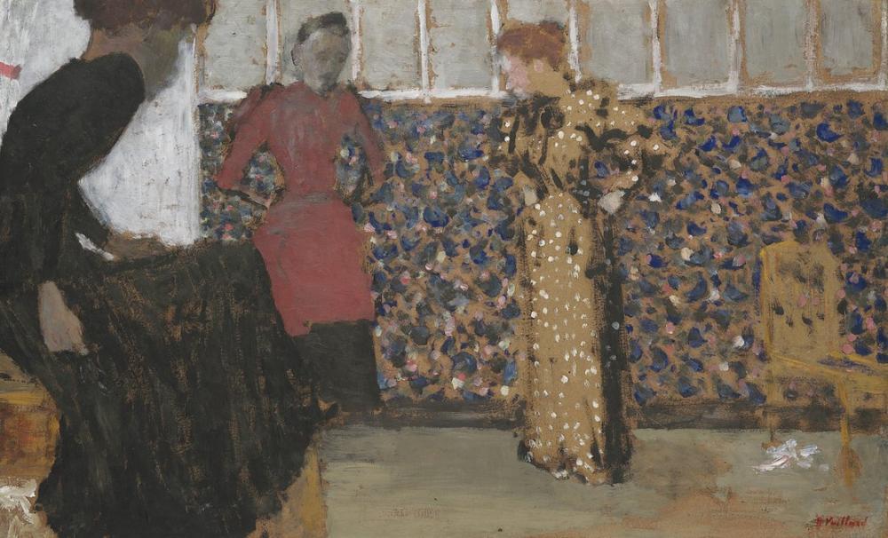 Edouard Vuillard, Interieur Trois Femmes en Conversation, Figure, Édouard Vuillard, kanvas tablo, canvas print sales