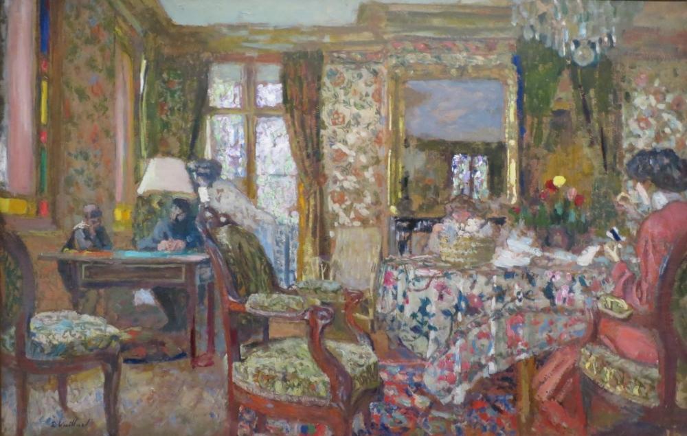 Edouard Vuillard, Interior, Canvas, Édouard Vuillard, kanvas tablo, canvas print sales