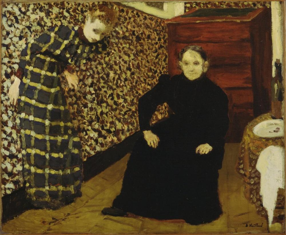 Edouard Vuillard, Mother and Sister of the Artist at Interior, Canvas, Édouard Vuillard, kanvas tablo, canvas print sales