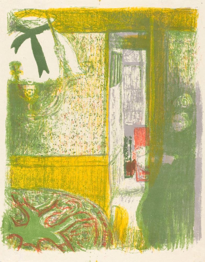 Edouard Vuillard, Asılı İç Lamba Sarkıt İç Mekan, Figür, Édouard Vuillard, kanvas tablo, canvas print sales