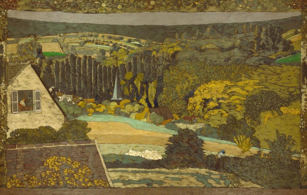 Edouard Vuillard, Jean Ormanda Yüksekten Bakan Manzaralı Penceresi, Kanvas Tablo, Édouard Vuillard, kanvas tablo, canvas print sales