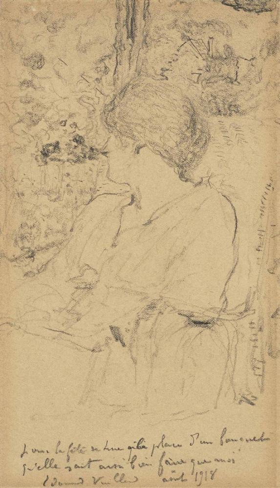 Edouard Vuillard, Villa Anna Bahçesindeki Lucy Hessel, Kanvas Tablo, Édouard Vuillard, kanvas tablo, canvas print sales