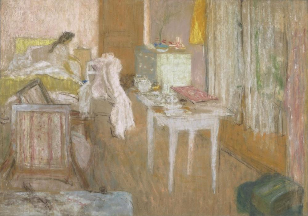 Edouard Vuillard, Pembe Oda, Figür, Édouard Vuillard, kanvas tablo, canvas print sales