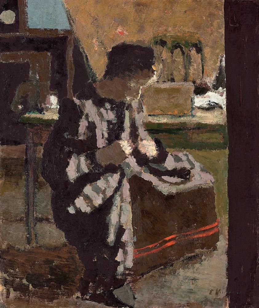 Edouard Vuillard, Dikiş, Figür, Édouard Vuillard, kanvas tablo, canvas print sales